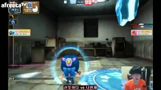 썬팡의 게임방송 버블파이터 1vs1 연승전 산듯  vs 나현채 [1월27일]