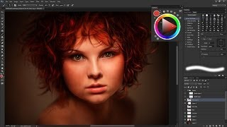 getlinkyoutube.com-Hyper-real Redhead Speed Painting (Time-lapse) in Photoshop
