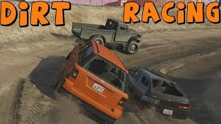 getlinkyoutube.com-Grand Theft Auto 5 Online | Dirt Track Racing with Funny Moments | SUV vs Truck vs Station Wagon