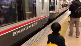 getlinkyoutube.com-【一番列車】ロマンスカーEXEα営業運転開始 新宿駅入線