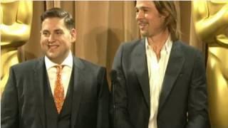 "getlinkyoutube.com-Brad Pitt Teases That He Met ""Jorge"" Clooney"