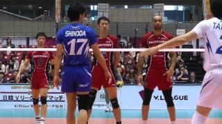 getlinkyoutube.com-Volleyball 東レ vs サントリー 3set Vプレミアリーグバレーボールファイナル 2013.4.14