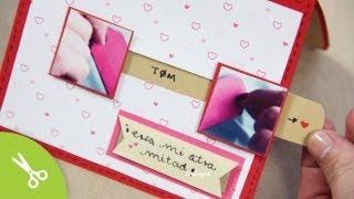 "getlinkyoutube.com-Tarjeta ""Mi otra mitad"" - Manualidad 14 de Febrero ♥ San Valentin"