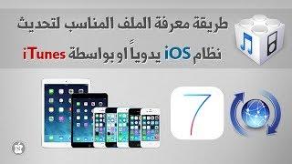 طريقة معرفة الملف المناسب لتحديث نظام iOS يدوياً او بواسطة iTunes