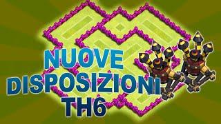 getlinkyoutube.com-NUOVE DISPOSIZIONI BASI TH6 (2 DIFESE AEREE!) - CLASH OF CLANS