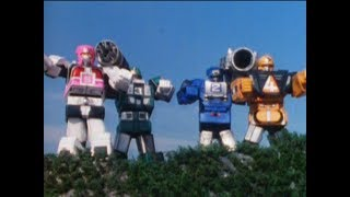 Power Rangers Turbo - The Power Rangers Summon the Rescue Zords | High Stance