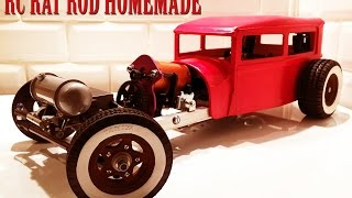 getlinkyoutube.com-RC CAR - RAT ROD RWD HOMEMADE 1/10 [PART 2/5] BODY FORD SEDAN MODEL A 1929