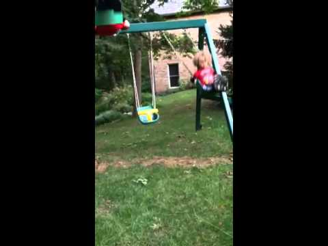 Swinging at nana's 2