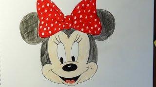 getlinkyoutube.com-How to draw Minnie Mouse, Como dibujar Minnie Mouse, Как нарисовать Минни Маус