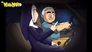 getlinkyoutube.com-Chiste de la monja y el taxista.
