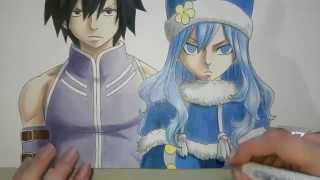 Speed Drawing - Gray and Juvia (Fairy Tail)