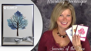getlinkyoutube.com-How to create a Masked Tree in a Leaf technique and Stampin Up OnStage News