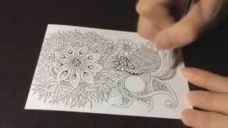 getlinkyoutube.com-High Speed Botanical Zentangle #4