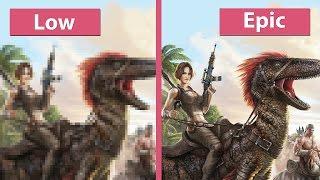 getlinkyoutube.com-Ark: Survival Evolved – PC Low vs. Medium vs. High vs. Epic Graphics Comparison [60fps][FullHD]