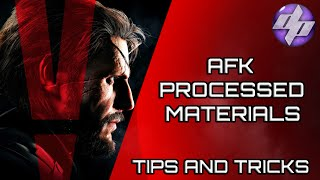 Metal Gear Solid V - The Phantom Pain Fast Processed Materials!