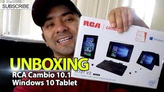 getlinkyoutube.com-UNBOXING: RCA Cambio 10.1 Windows 10 Tablet