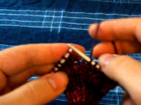 Right-handed Speed Knitting Technique