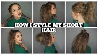 getlinkyoutube.com-How I Style My Short Hair | Long Bob