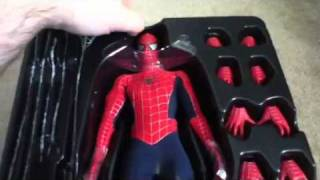 getlinkyoutube.com-Hot toys spiderman unboxing