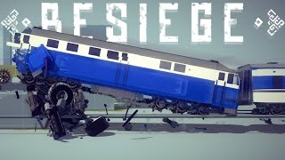 getlinkyoutube.com-Besiege Best Creations - Largest Mega Ramp, High Speed Train Crashes & More! - Besiege Highlights