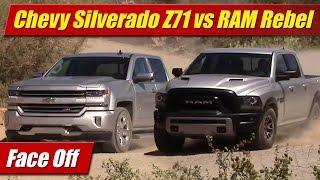 getlinkyoutube.com-Face Off: 2016 Chevrolet Silverado Z71 vs RAM Rebel