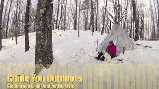getlinkyoutube.com-Winter Camping in a Tipi Hot Tent