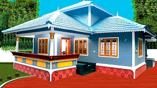 getlinkyoutube.com-16.5 lakh :1200 sq ft :3 Bedrooms   Low cost house , manorama Old episode
