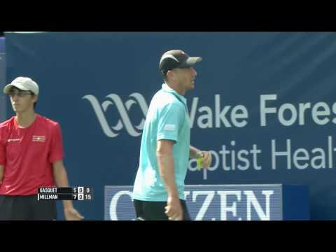 Millman Chases Down Lob For One-Handed Hot Shot