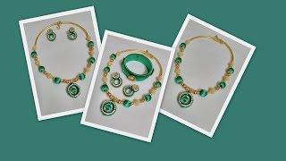 getlinkyoutube.com-How to Make Silk Thread Necklace Set