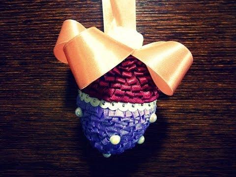 Styropianowe jajko ze wstążki #2