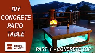 getlinkyoutube.com-Part 1. How to make a Concrete Coffee Table for the Patio (Concrete Top)