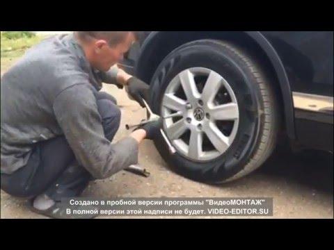 Замена задних тормозных колодок на Volkswagen Touareg NF (2010-)