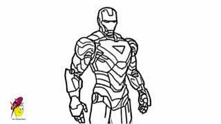 getlinkyoutube.com-IronMan - Cool and Awesome - How to draw Ironman from Avengers