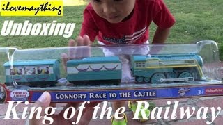 getlinkyoutube.com-Unboxing Connor's Race to the Castle - Thomas Trackmaster Motorized Engine