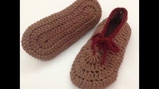 getlinkyoutube.com-طريقة قياس وعمل سليبر نسائي كورشيه Crochet Slippers