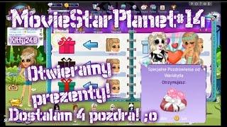 getlinkyoutube.com-MovieStarPlanet#14 - Otwieramy Prezenty! :D | Dostałam 4 Pozdra O.o | 50 sub!