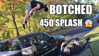 getlinkyoutube.com-BOTCHED 450 SPLASH! Backyard Wrestling Table Match Duhop vs Grims NEPHEW!