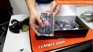 3Racing Sakura D3 CS Drift RC Car Unbox модели RC Drift 1:10