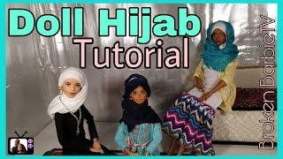 DIY/ How To Make Barbie Hijab Tutorial  CUSTOM BARBIE HIJAB #WorldHijabDay width=