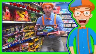 getlinkyoutube.com-Learn Colors with Blippi Toy Store in 4K - Educational videos for Preschoolers