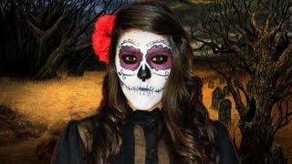 getlinkyoutube.com-Disfraz Calavera de Azúcar | Tutorial de maquillaje Catrina | Ideas de disfraces para halloween