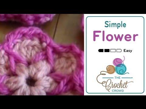 Crochet Cute As A Button Flowers Tutorial