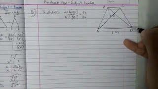 Triangles Chapter 6 Exercise 6.4 (part 1) class 10 maths NCERT || Math Tutor