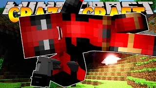 Minecraft Crazy Craft 3.0 : DEADPOOL'S WEAPON TESTING! #56