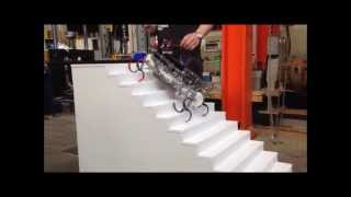 getlinkyoutube.com-Stair climbing robot (Triple Bended Crosswheels)