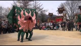getlinkyoutube.com-2012 飛騨古川祭 神楽台(向町組)獅子舞