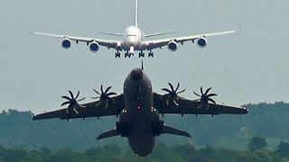 getlinkyoutube.com-Aerobatic Airbus A400M Takes Off Quick, Before A380 Lands.