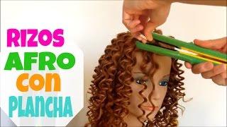 getlinkyoutube.com-Hacer Rizos Afro con Plancha - Afro Curls with Iron Estilo y Belleza