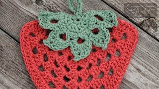 getlinkyoutube.com-How to Crochet A Dishcloth: Strawberry