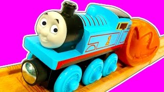 getlinkyoutube.com-Thomas The Tank Fossil Run Wooden Railway Scrap Monster Train Wreck